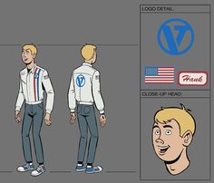 Image result for venture bros model sheets