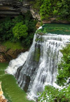 Burgess Falls is a beautiful horseshoe shaped waterfall which drops 136 feet into a large limestone gorge. Burgess Falls is the largest of 4 waterfalls located in Burgess Falls State Park and Natural Area - 4000 Burgess Falls Drive Sparta, TN