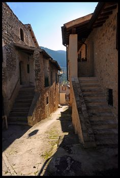 De ancient district of de town of Eggi, locality of Spoleto, Perugia, Umbria_ Italy