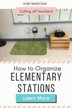 Not sure how to store materials for your centers when they are not being used? The Simply Organized Teacher shares how to setup and organize your centers all year long. Guided Reading Organization, Teacher Organization, Organization Hacks, Literacy Stations, Literacy Centers, Teacher Must Haves, Organized Teacher, First Year Teachers, Classroom Setup