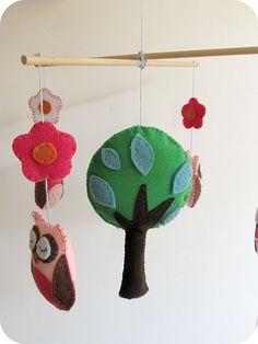 mobile arbre et hibou chouchoupidou...
