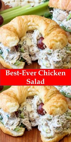 Your family's favorite food and drink ! Best-Ever Chicken Salad This Best-Ever Chicken Salad is really wonderful. Perfect for incredible chicken salad sandwiches (croissants are great!), or ton top of a lovely bed of green. Best Chicken Salad Recipe, Chicken Recipes, Low Carb Chicken Salad, Homemade Chicken Salads, Pasta Recipes, Avocado Chicken, Homemade Mayo Recipe, Clean Eating, Recipes