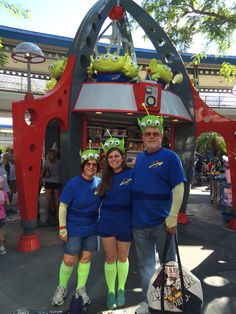 Toy story alien costumes for Mickey's Not So Scary Halloween Party!