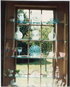 Past photo of Threaded Sandwich Glass from the Durand family collection. Housed in the Durand Room at Atwood House Museum, Chatham, MA. Photo by Spencer Grey. #chathamhistoricalsociety, #atwoodhouse, #chatham, #capecod, #glass, #sandwhichglass, #threadedglass