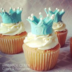 Little Prince Cupcakes Prince Birthday Theme, King Birthday, Birthday Themes For Boys, Baby Boy First Birthday, 1st Birthday Cakes, Birthday Ideas, Birthday Parties, Christening Cupcakes, Baby Boy Christening