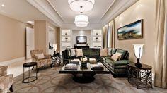 Ritz-Carlton Montréal - Royal Suite Living Room and Bar