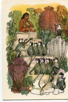 """""""The Jungle Book"""" Written by Rudyard Kipling - Artist Sharon Foster - the Tales of Mowgli' - A Story of India"""