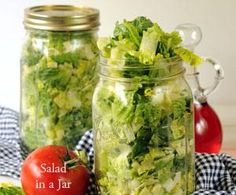 need to try this!! Salad in a Jar!!!! This is a way to clean all of your lettuce, and put in mason jars and vacumm seal them.  The lettuce will remain fresh for 7-10 days.  Wash, chop and store your salad and have it ready to go.  Store in environmentally safe glass jars. This is a great idea for busy people and those watching their calories. I LOVE THIS