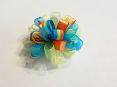 Fun loopy hair bows for girls by GettinAllGussiedUp on Etsy, $4.00