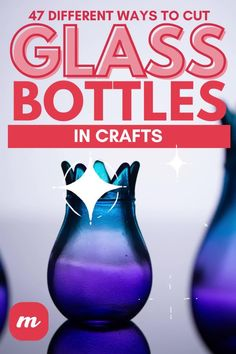 Glass cutting is actually a fairly simple process and provides you a ton of cute ideas for DIY crafts and home decor projects. However, you may need a bit of inspiration to get started and this article highlights many glass bottle cutting ideas to help you get started. It also is a great way to upcycle beer, wine, and soda pop bottles into something new and exciting. #glassbottleprojects #cuttingglasstipsandtricks #glassdiycrafts Glass Bottle Crafts, Sea Glass Crafts, Diy Home Crafts, Diy Crafts Videos, Pop Bottles, Glass Bottles, Bottle Chandelier, Mini Terrarium, Glass Cutter