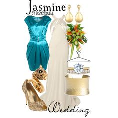 If I had a Disney Princess themed wedding emsemble, this would be it :)
