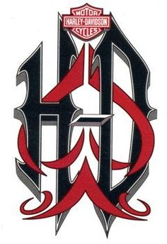 Harley HD Temporaray Tattoo by Tattoo Fun. $4.95. Harley Davidson temporary tattoo. HD in big black letters with red design weaved in. Sheet size 2 3/4x 4. Tattoo size 2 1/4x 3 3/4.