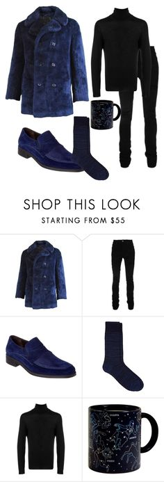 """""""A Cold Winter's Night"""" by faeriesquall ❤ liked on Polyvore featuring AMIRI, Bruno Magli, Barneys New York, BOSS Hugo Boss, men's fashion and menswear"""