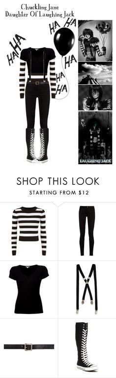 """""""Descendents:Daughter Of Laughing Jack"""" by pastelgothprincess27 ❤ liked on Polyvore featuring DKNY, jared, Gucci, James Perse, River Island, Maison Margiela, Alexander McQueen and Converse"""