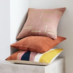 Shop all decorative pillows, throws and poufs for easy living room updates and small space seating solutions. Blush Pillows, Velvet Pillows, Cushions On Sofa, Pillow Set, Pillow Covers, Contour Pillow, Expandable Dining Table, Living Room Update, Colorful Pillows