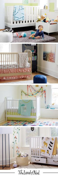 Our exclusive cribs feel at home in any nursery, and their features exceed many safety standards, so you can rest easy while your little one sleeps soundly.