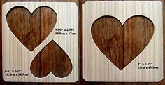 A Set Of 3 Hand Crafted MDF Heart Drawing Templates / Stencils by Greg Ledder http://www.amazon.co.uk/dp/B00U11EDPQ/ref=cm_sw_r_pi_dp_Mc.Hvb0X4EPNN