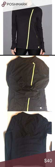 Trina Turk work out Jacket In great condition, like New. Thumb holes, side pockets , best activewear jacket. Trina Turk Jackets & Coats
