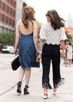 via Garance Doré Spring Street Style, Street Style Looks, Spring Summer Fashion, Franck Provost, Nina Dobrev, Nice Dresses, Summer Dresses, Minimal Outfit, Cool Outfits