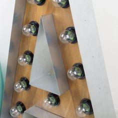 Antic&Chic. Decoración Vintage y Eco Chic: [DIY] Cómo hacer letras luminosas de madera y hierro