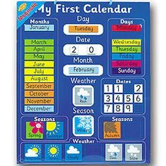 Magnetic My First Calendar Chart Reviews - Child Development | dooyoo.co.uk