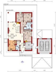 Projekt domu Daniel G2 energo 120,64 m² - koszt budowy - EXTRADOM Floor Plans, Exterior, Future, Design, Future Tense, Outdoor Rooms, Floor Plan Drawing, House Floor Plans