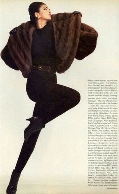 Vogue US 1985 Photo Steven Meisel Model Linda Spierings