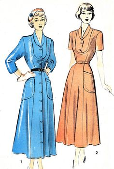 1940s Dress Pattern Advance 5055 Misses Flared by paneenjerez, $20.00
