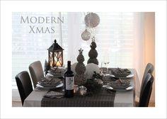 Modern Xmas - tafelfein - Feines & Accessoires #tafelfein #weihnachtstafel #weihnachten #dekoration #tischdeko #accessoires #christmas #silber