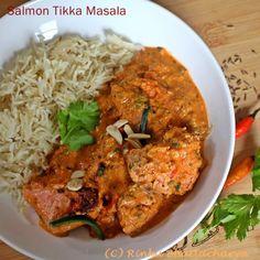 Salmon Tikka Masala - Grilled Salmon in a Tomato Cream Sauce
