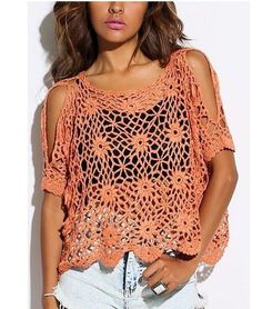 Open knit Crochet Summer Top Relax fit Made to Order by DearAlina, $149.00