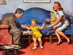 Baby's First Step, Harold N. Anderson (1894 – 1973)