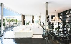 Living room in Tom Cruise's London Penthouse // Interior Designer Paul Davies
