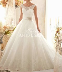 princess style bridal gowns | -Bridal-Sheer-lace-Cap-Sleeve-Back-Princess-Style-Wedding-Gowns ...