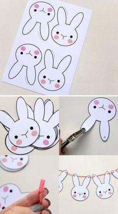 comment faire une guirlande de lapin