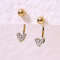 14k Yellow Gold Cubic Zirconia Cioro Floating Illusion Heart Earrings #earpinearrings #sterlingsilverearpins #earringsthatgoup #pinearrings #earpinsjewelry #earpin #earpin #earspirals #earspirals #slideonearrings #climbtheearearrings #wrapearrings #nonpiercedearrings #earcuffs #personalizedbracelets #earcuffs #cuffearrings #cliponearrings #earspiralsearrings #earspiralearrings