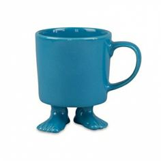Wake up smiling with these footloose critters. Visit hardtofind.com.au to check out Dylan Kendall's Efeet mug, $44.00 for a set of two.