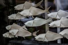 origami fishes by Grodenaue, via Flickr