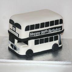 Happy 80th Birthday, 80 Birthday Cake, Bus Cake, Double Decker Bus, Clean Eating Diet, Healthy Recipe Videos, Family Birthdays, Healthy Work Snacks, Fancy Pants