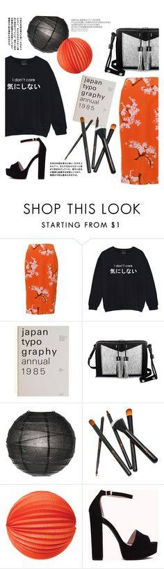 """""""I don't care sweatshirt"""" by agnesfrs ❤ liked on Polyvore featuring Project D London, Carianne Moore, Cultural Intrigue, Chinese Laundry, black, MyStyle, basics, japanese and oversizedflorals"""