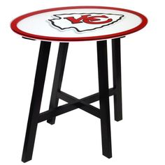 NFL KCC Kansas City Chiefs Logo Pub Table