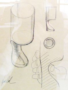 Joe Colombo - 'smoke glass', sketch - 1964
