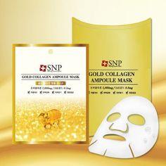 [SNP] GOLD COLLAGEN Ampoule Mask (1BOX)