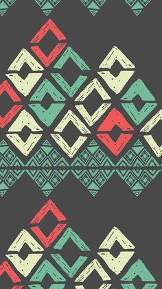 Vintage Black Background Tribal Print