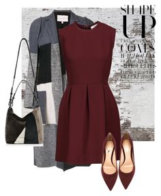 """coat"" by masayuki4499 ❤ liked on Polyvore featuring Carolina Herrera, Sandro, AllSaints and Gianvito Rossi"