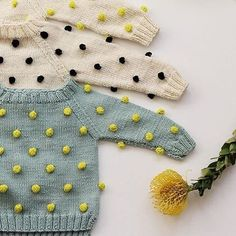 Ink 361 from Kalinkakids spring/summer16 #pompom #pompomsweater #kids #knit #knitting #spring #summer