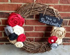 Cincinnati Reds Wreath