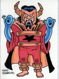 Fred-Hembeck-Color-Sketch-Card-Master-Pandemonium-Marvel-villain-1-1