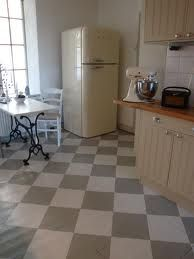the old school Painted Kitchen Floors, Painted Floors, Kitchen Paint, Kitchen Flooring, House 2, Interior Design Inspiration, Home Remodeling, Beautiful Homes, Tile Floor