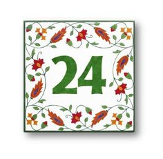 Floral Address Plaque Address Numbers House by AyeBarDesigns